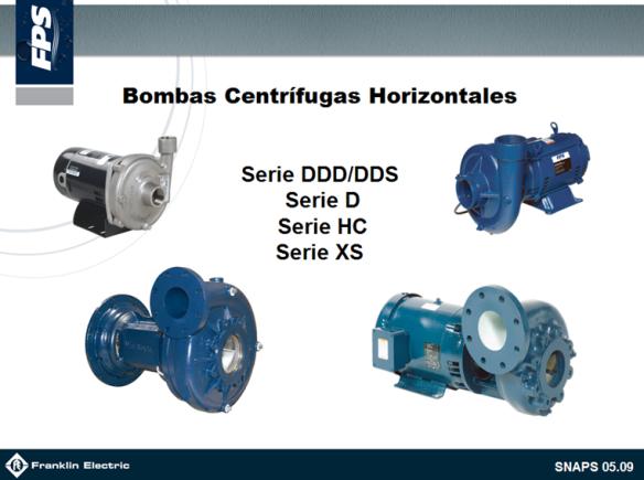 SNAPS Bombas Centrifugas Horizontales